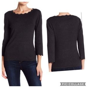 Philosophy scalloped sweater size L